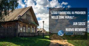 """Jan Sossi (nuovo socio Assoprovider): """"Leggi favorevoli ai provider nelle zone rurali"""""""